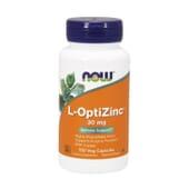 L-OPTIZINC 30mg 100 VCaps de Now Foods