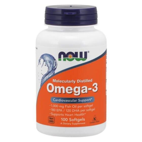 OMEGA-3 DESTILADO MOLECULARMENTE 100 Perlas de Now Foods