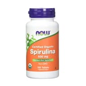 ESPIRULINA ORGANICA 500mg 100 Tabletas de Now Foods