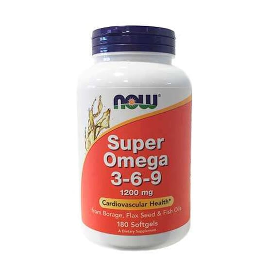SUPER OMEGA 3-6-9 1200mg 90 Perlas de Now Foods