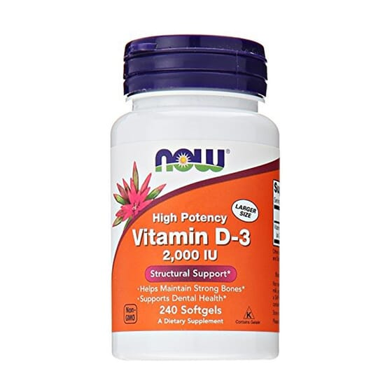 Vitamina D3 2000 IU 240 Perlas de Now Foods