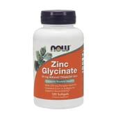 ZINC GLYCINATE 30mg 120 Perlas de Now Foods