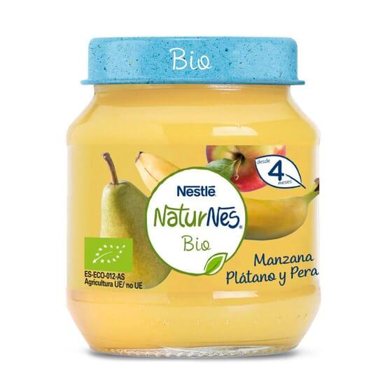 NATURNES BIO POTITO MANZANA, PLÁTANO Y PERA 120g de Nestle Naturnes