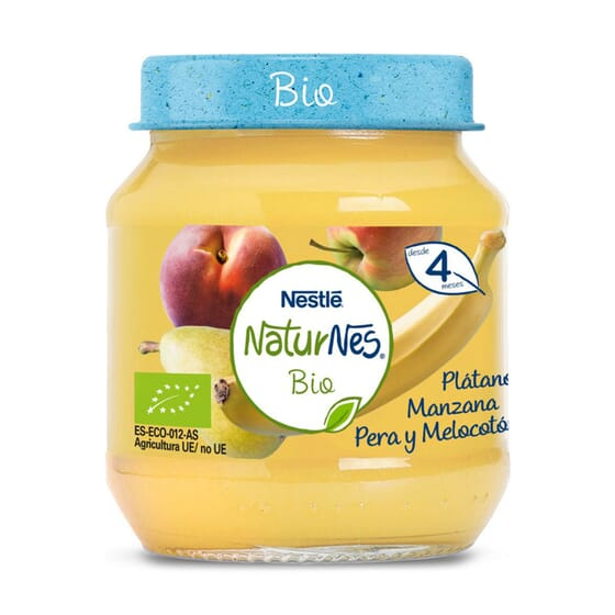 NATURNES BIO BOIÃO BANANA, MAÇÃ, PERA E PÊSSEGO 120g da Nestlé Naturnes