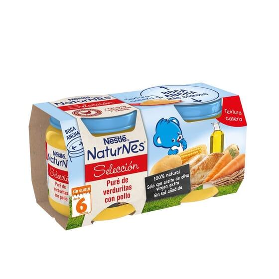 NATURNES SELECCIÓN POTITO PURÉ DE VERDURAS Y POLLO 2 Ud 200g de Nestle Naturnes