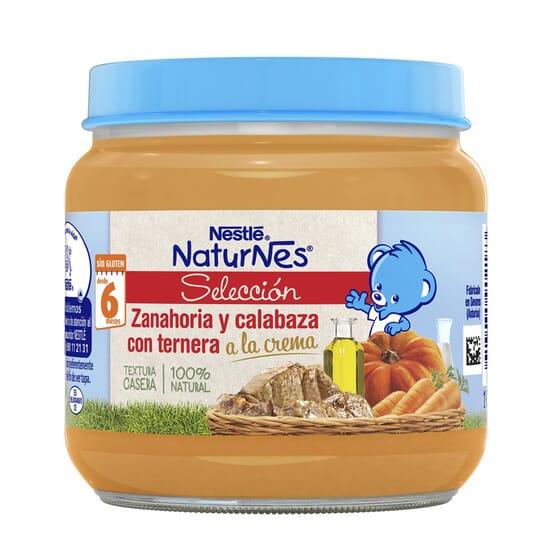 NATURNES SELECCIÓN POTITO ZANAHORIA Y CALABAZA CON TERNERA 190g de Nestle Naturnes