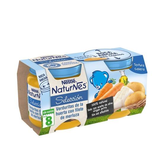 NATURNES SELECCIÓN POTITO VERDURITAS CON FILETE DE MERLUZA 2 Ud 200g de Nestle Naturnes