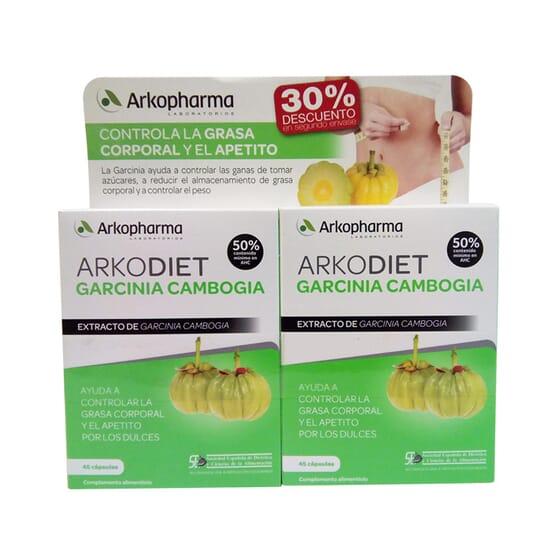 ARKODIET GARCINIA CAMBOGIA 30% de réduction sur la 2ème 2 x 45 Gélules