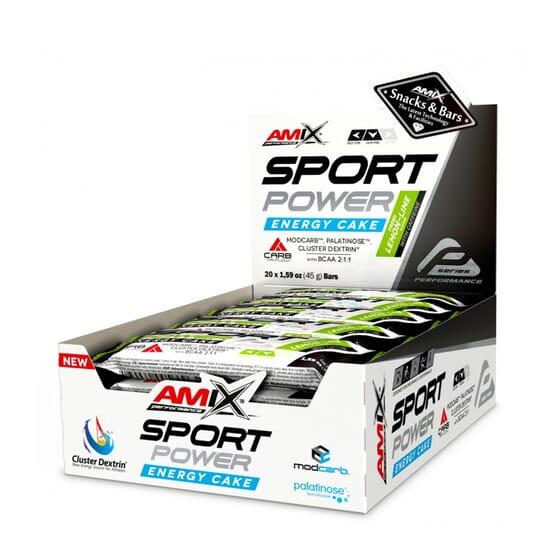 SPORT POWER ENERGY CAKE CON CAFEÍNA 20 Ud de 45g de Amix Performance