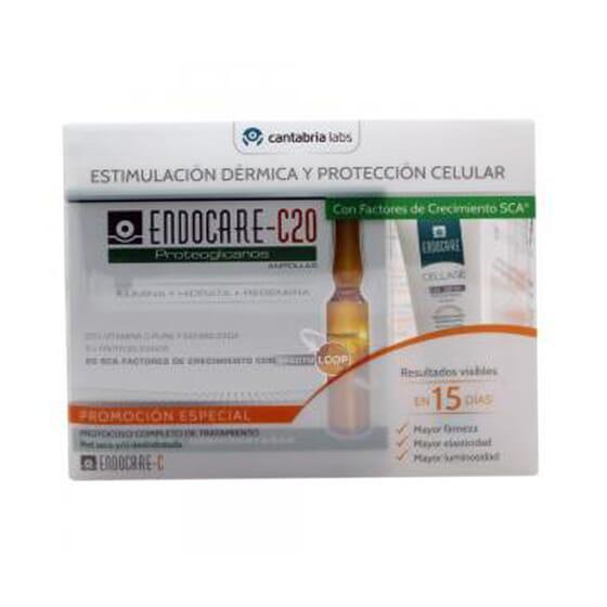 ENDOCARE C20 PROTEOGLICANOS 30 AMPOLLAS + CELLAGE DAY SPF30 15ml