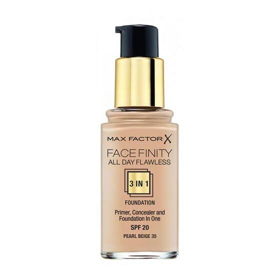 Fondotinta Facefinity All Day Flawless 3in1 #35 Pearl Beige 30 ml di Max Factor