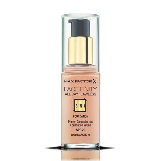 Fondotinta Facefinity All Day Flawless 3in1 #45 Warm 30 ml di Max Factor
