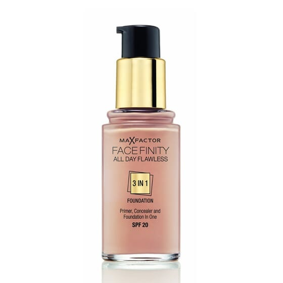 FACEFINITY ALL DAY FLAWLESS 3IN1 FOUNDATION #63 SUN BEIGE 30ML de Max Factor