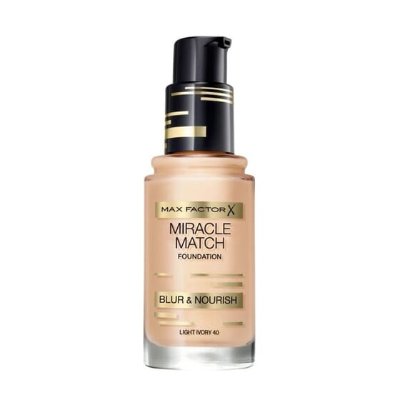 MIRACLE MATCH FOUNDATION #40 LIGHT IVORY 30 ML de Max Factor
