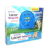 GEL DENTAIRE FRAISE LACER ENFANTS 75 ml + PORTE PETITE SOURIS