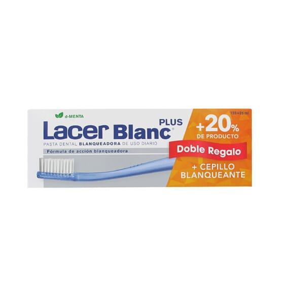 LACER BLANC PLUS PASTA DENTÍFRICA MENTA + 20% GRATIS 150ml + CEPILLO BLANQUEANTE