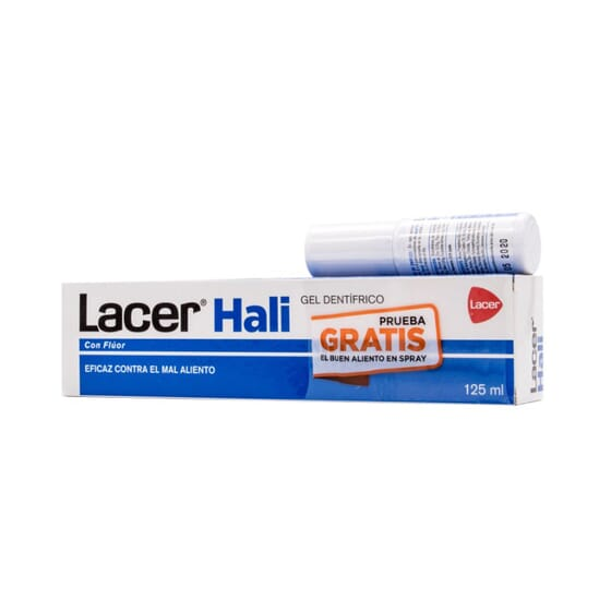 LACER HALI GEL DENTÍFRICO 125ml + GRATIS HALI SPRAY BUCAL 15ml