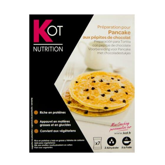 Preparato per Pancakes con Gocce di Cioccolato  25g 7 Bustine di Kot