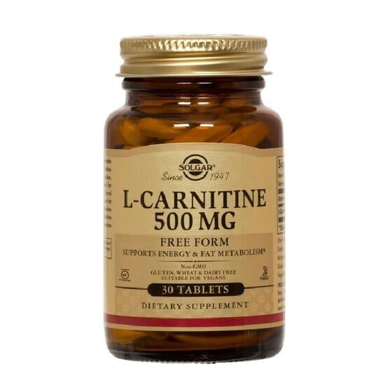 L-Carnitine 500 mg 30 Tabs de Solgar