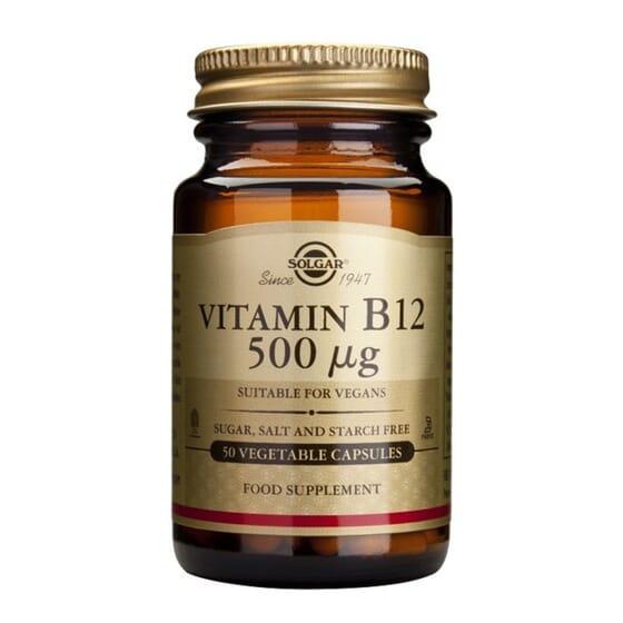 VITAMIN B12 500mcg 50 Vcaps de Solgar