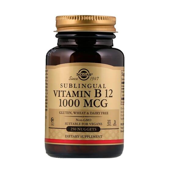 Vitamina B12 Sublingual 1000mcg 250 Tabs de Solgar