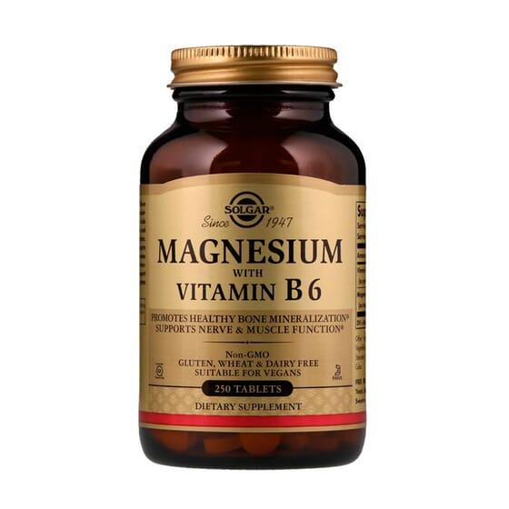 Magnesio con Vitamina B6 250 Tabs de Solgar