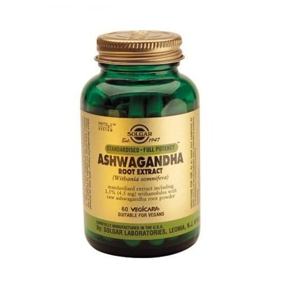 Ashwagandha Extracto de Raíz 60 Vcaps de Solgar