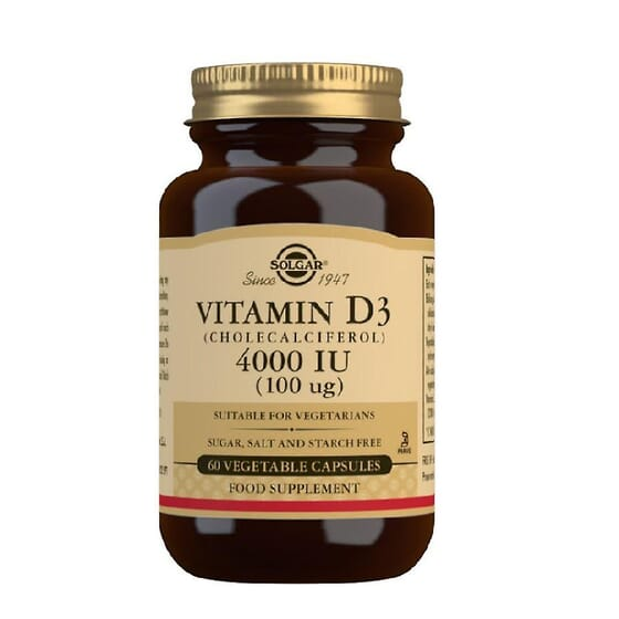 Vitamina D3 4000UI 60 Caps de Solgar