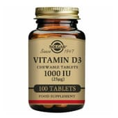 Vitamina D3 1000UI 100 Ch.Tabs da Solgar