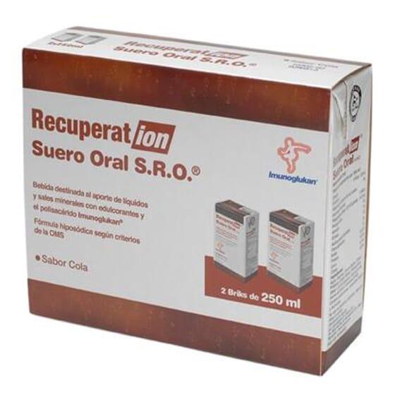RECUPERA-TION SRO SUERO ORAL COLA 2 Ud de 250ml