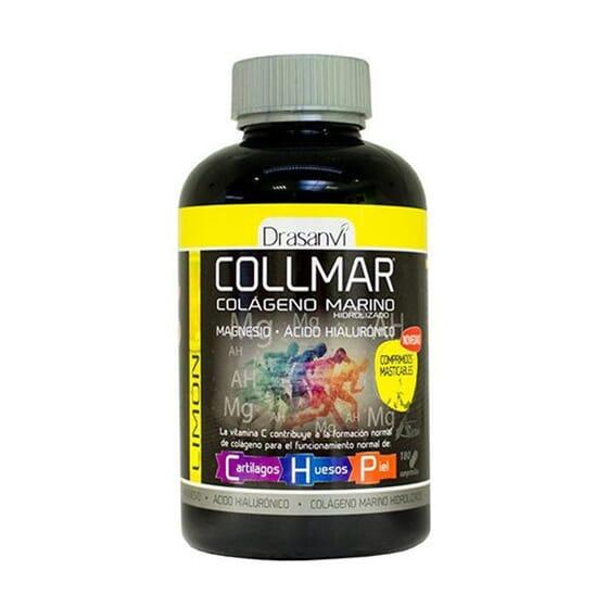 COLLMAR COLÁGENO + MAGNÉSIO + ÁCIDO HIALURÓNICO 180 Comprimidos Mastigáveis da Drasanvi