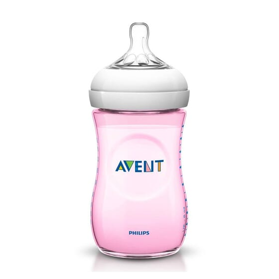 Biberon Natural Rosa 1M+ 260 ml di Avent
