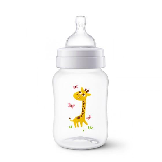 Biberon Anti-Colic Giraffa 1M+ 260 ml di Avent
