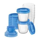 Bicchieri Conservazione del Latte Materno + 2 Adattatori 180 ml de Avent