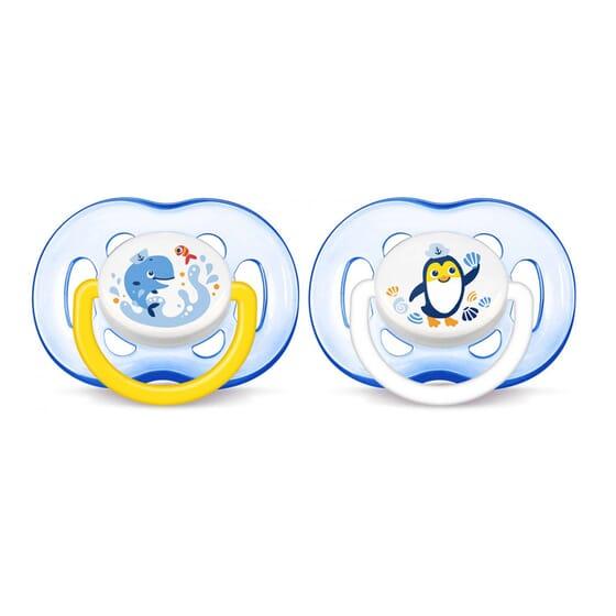Succhietto Airflow Silicone Blu 18M+ 2 Unità di Avent
