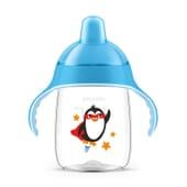 Bicchiere Manici Con Beccuccio Duro Azzurro 18M+ 340 ml di Avent