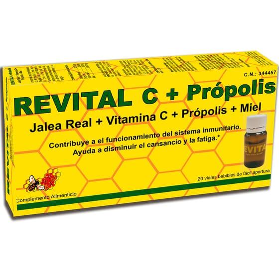 REVITAL C + PRÓPOLIS 20 Ampolas 10ml da Revital