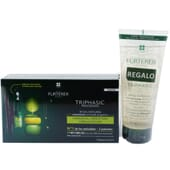 Triphasic Progressive Trattamento Anticaduta 8 Fiale 5 ml + Shampoo Gratis 200 ml di Rene Furter