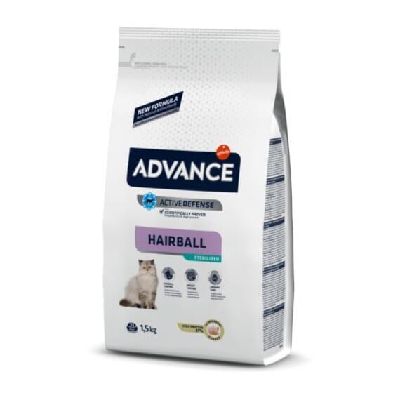 Comida Para Gatos Sterilized Hairball Pavo y Cebada 1,5 Kg de Advance