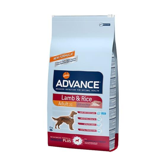 Ração Para Cães Adult Borrego e Arroz 12 Kg da Advance