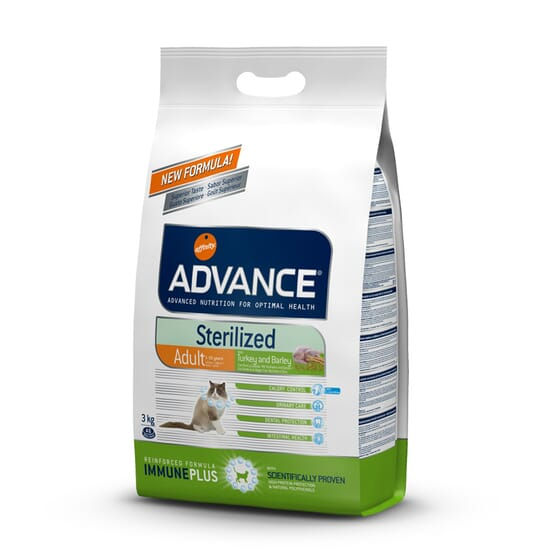 Comida Para Gatos Adult Sterilized Pavo 1,5 Kg de Advance