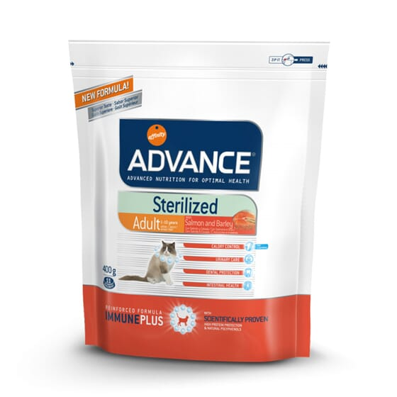 Comida Para Gatos Sterilized Sensitive Salmón y Cebada 3 Kg de Advance