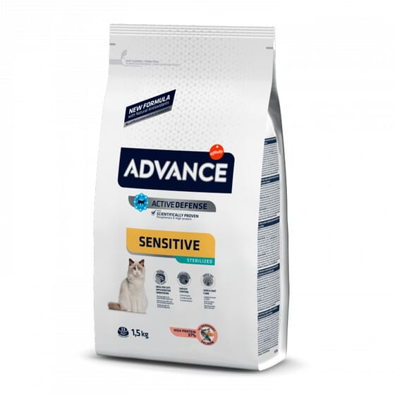 Comida Para Gatos Sterilized Sensitive Salmão e Cevada 400g da Advance