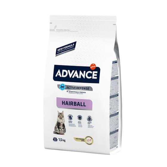 Ração Para Gatos Hairball Peru e Arroz 1,5 Kg da Advance