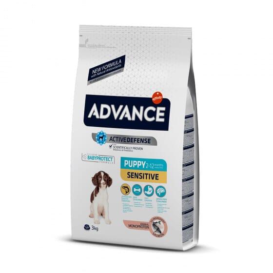 Ração Para Cães Puppy Sensitive Salmão 3 Kg da Advance