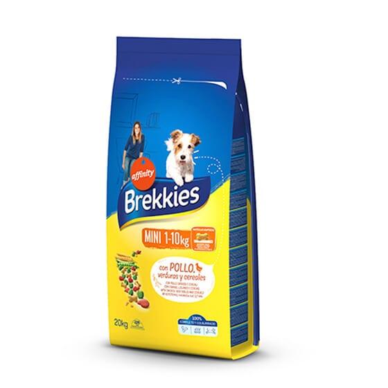 Brekkies Mini 1-10 Kg Ração Para Cães Frango, Carne de Vaca e Verduras 20 Kg da Affinity