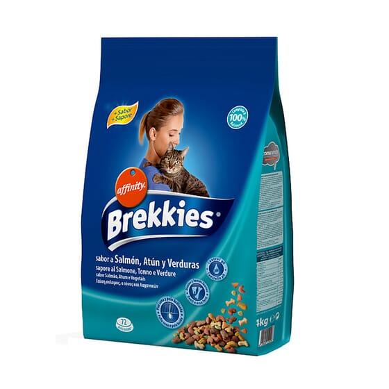 Brekkies Ração Para Gatos Salmão, Atum e Verduras 4 Kg da Affinity