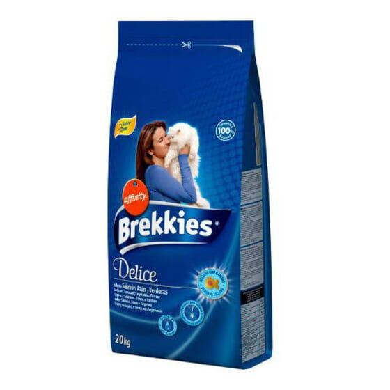 Brekkies Delicious Ração Para Gatos Peixe e Verduras 20 Kg da Affinity
