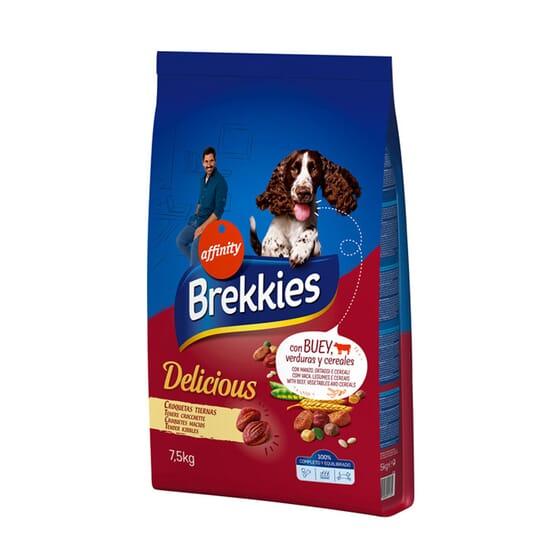 Brekkies Delicious Adult Buey, Pollo, Cereales y Verduras 7,5 Kg de Affinity
