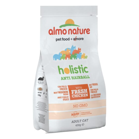 Adult Cat Anti-Hairball Pollo y Arroz 400g de Almo Nature
